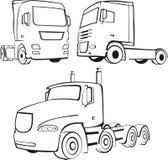 Camion, piste, TIR Image stock