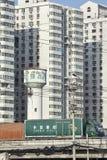 Camion postal sur l'autoroute urbaine, Pékin, Chine Images stock