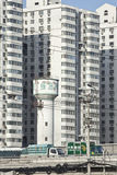 Camion postale sulla superstrada, Pechino, Cina Fotografie Stock