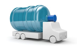 Camion pour la livraison de l'eau illustration libre de droits