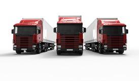 Camion rossi Immagine Stock Libera da Diritti