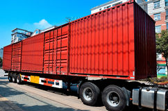 Camion rosso Immagine Stock