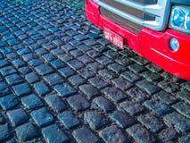 Camion rosso Immagini Stock