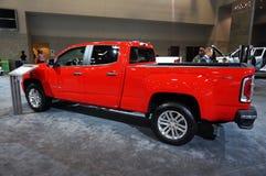Camion rosso del canyon di GMC fotografie stock