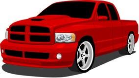 Camion rosso di sport Fotografie Stock Libere da Diritti