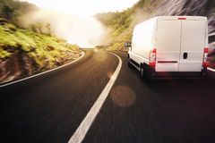 Camion rosso e bianco Fotografie Stock Libere da Diritti