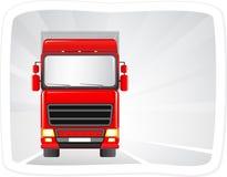 Camion rosso sulla strada Fotografia Stock Libera da Diritti
