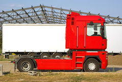 Camion rouge Images stock