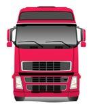 Camion rouge Photographie stock libre de droits