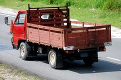 Camion rouge Images libres de droits