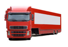 Camion rouge Image stock