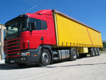 Camion rouge Image libre de droits