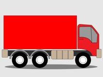 Camion rouge de camion illustration de vecteur