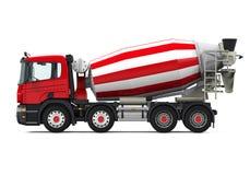 Camion rouge de mélangeur concret illustration libre de droits