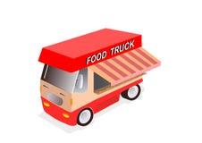 Camion rouge de nourriture Image libre de droits