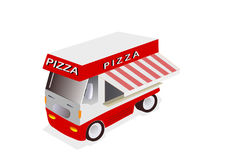 Camion rouge de pizza Photos libres de droits