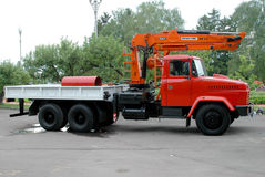 Camion rouge Kraz Photographie stock libre de droits
