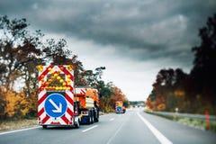 Camion securty di emergenza della strada principale Fotografia Stock
