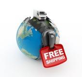 Camion sul mondo royalty illustrazione gratis