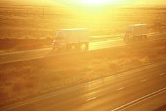 Camion sulla strada principale Fotografia Stock