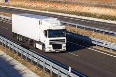 Camion sur l'omnibus Photographie stock