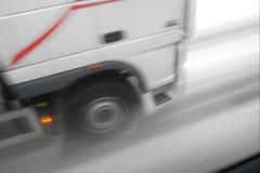 Camion sur la neige image libre de droits