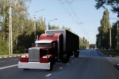 Camion sur la route illustration stock