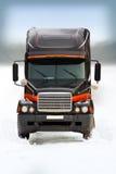 Camion sur la route 2 de l'hiver Images libres de droits