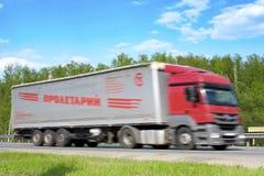 Camion sur une route photo libre de droits