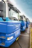 Camion in una riga Fotografie Stock Libere da Diritti