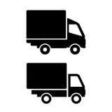 Camion van icons Photos libres de droits
