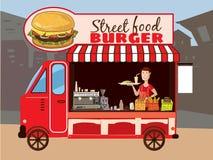 Camion variopinto degli alimenti a rapida preparazione Immagini Stock