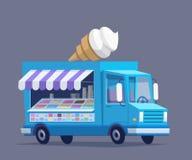 Camion variopinto del gelato Immagini Stock Libere da Diritti