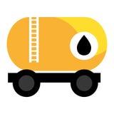 Camion variopinto dell'olio del carico, grafico di vettore Immagine Stock