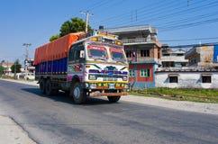 Camion variopinto nepalese Fotografia Stock Libera da Diritti