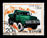 Camion verde, serie dei camion, circa 1988 Fotografia Stock