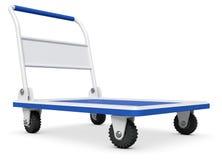 Camion vuoto di spinta della mano Immagine Stock Libera da Diritti