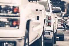 Camioncini da vendere Fotografia Stock Libera da Diritti