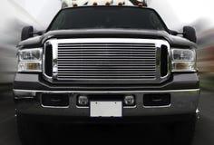 Camioncino scoperto sul movimento Fotografia Stock