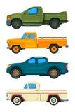 Camioncino Trasporto di vettore Illustrazioni delle automobili royalty illustrazione gratis