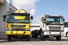 Camiones de Daewoo Novus Imagen de archivo libre de regalías