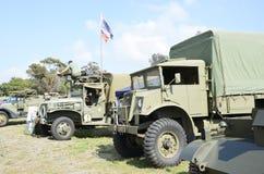 Camiones de ejército Fotos de archivo libres de regalías