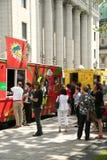 Camiones de la comida en Montreal Imagen de archivo libre de regalías
