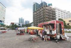 Camiones de la comida, Kuala Lumpur Fotografía de archivo
