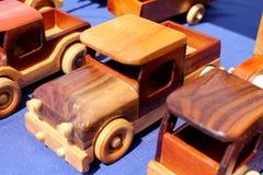 Camiones de madera Fotografía de archivo