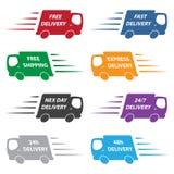 Camiones de reparto Fotografía de archivo libre de regalías