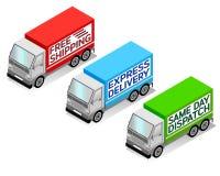 Camiones de reparto Fotografía de archivo