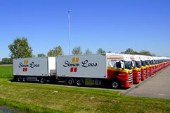 Camiones de reparto de Simon Loos imágenes de archivo libres de regalías