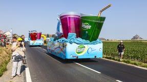 Camiones de Teisseire Fotografía de archivo