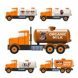 Camiones del depósito de leche libre illustration